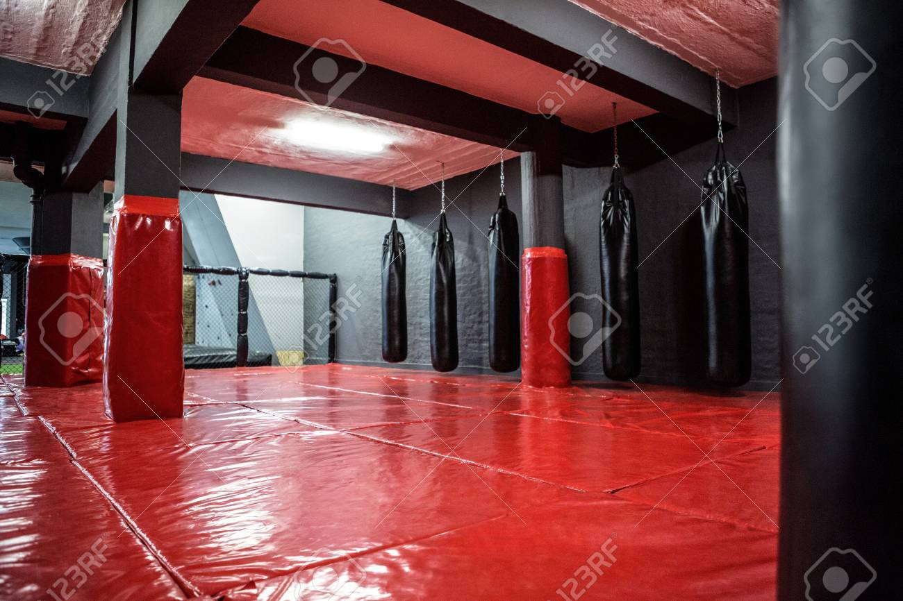 red boxing area with