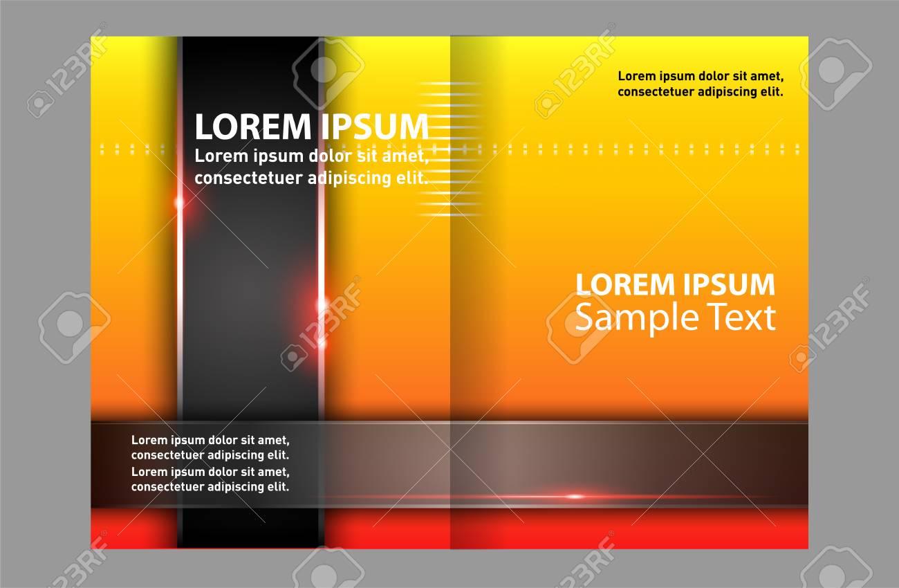Vector - Yellow Bi Fold Brochure Template