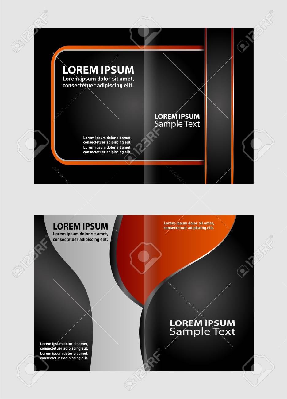 Bi-Fold Brochure Design Templates, Business Leaflet, Booklet Stock Vector -  53840963