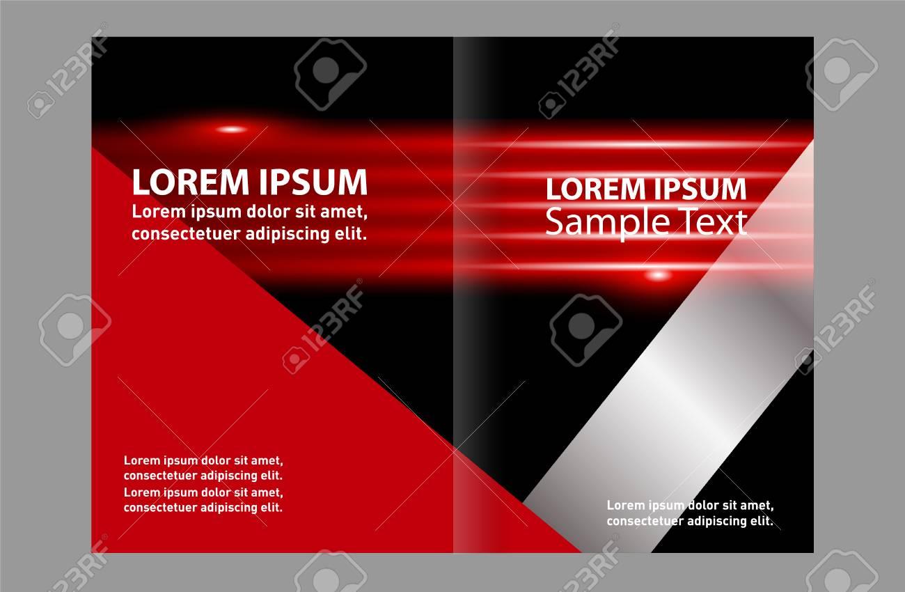 Black Bi-Fold Brochure Design Templates, Business Leaflet, Booklet Stock  Vector - 59491149