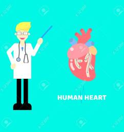 medical internal organs body part nervous system anatomy surgery human heart and stethoscope healthcare label icon [ 1300 x 1300 Pixel ]