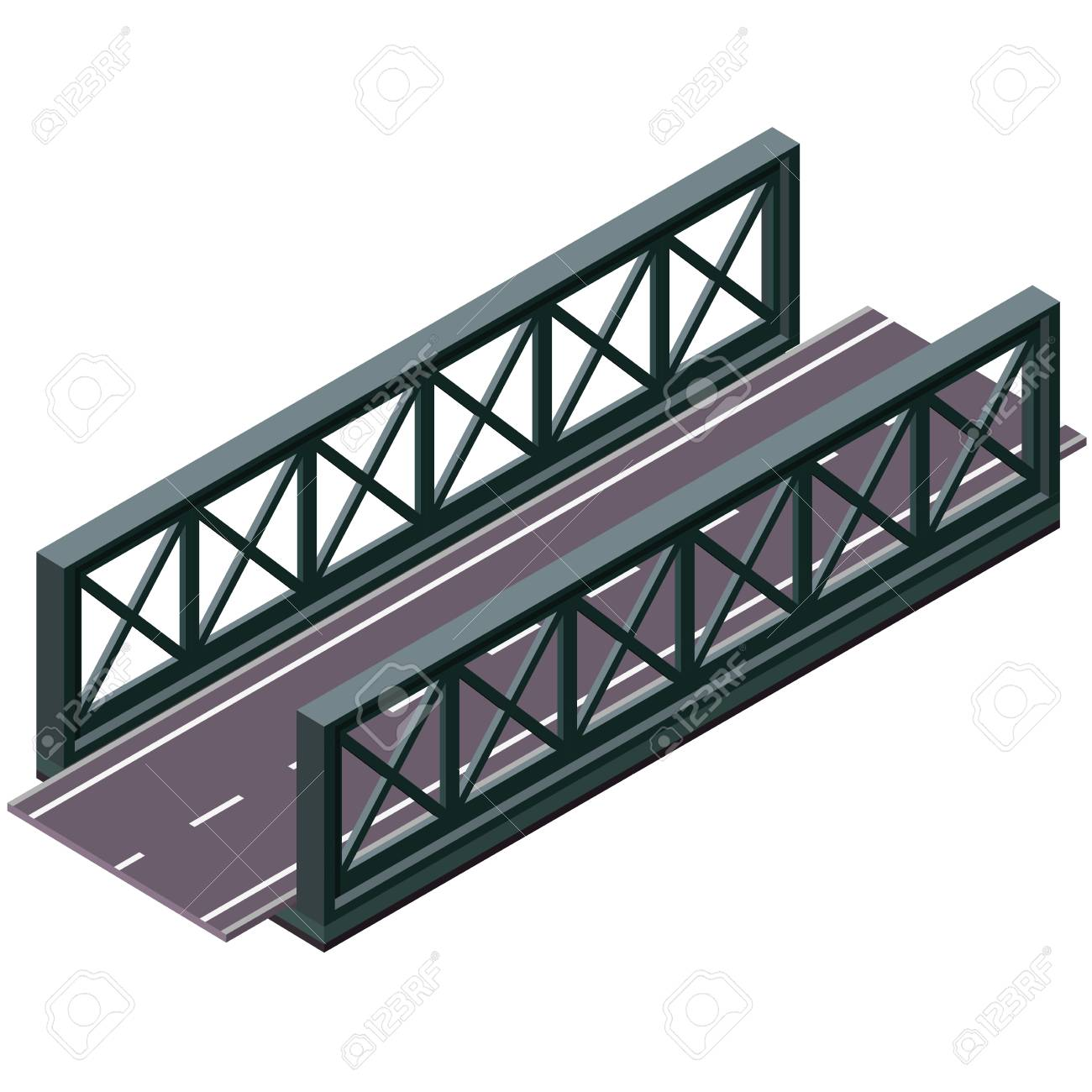 hight resolution of  vector clipart and illustrations 3d isolated on white background industrial transportation building metallic architecture asphalt road steel bridge