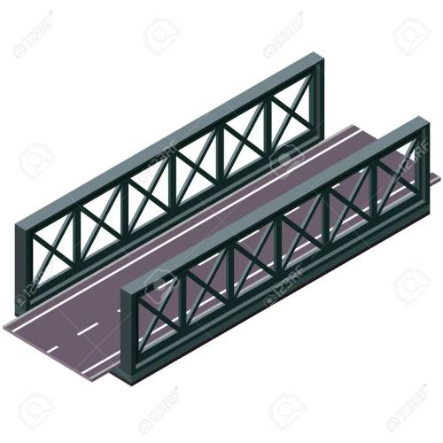 small resolution of  vector clipart and illustrations 3d isolated on white background industrial transportation building metallic architecture asphalt road steel bridge