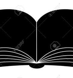 open book vector clipart silhouette symbol icon design illustration isolated on white background [ 1300 x 798 Pixel ]