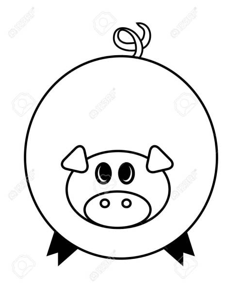 small resolution of cartoon pig vector symbol icon design cute animal illustration isolated on white background stock vector