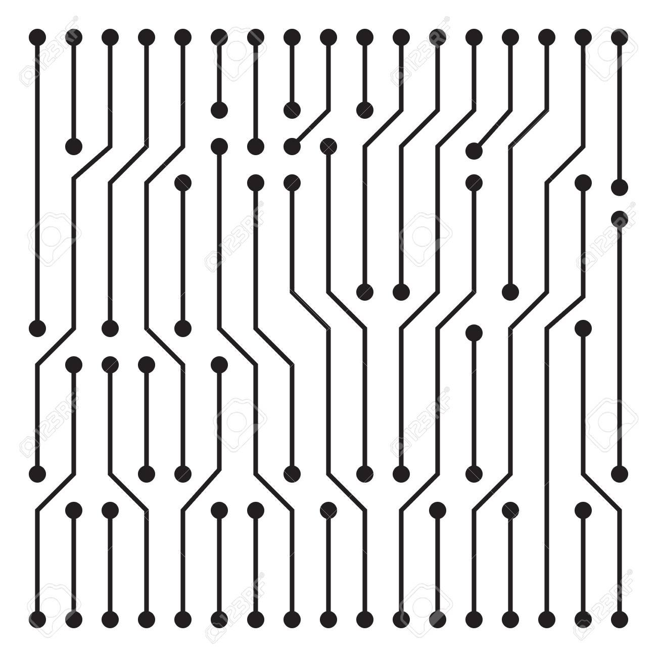 hight resolution of high tech circuit board texture beautiful banner wallpaper design illustration stock vector 81503228