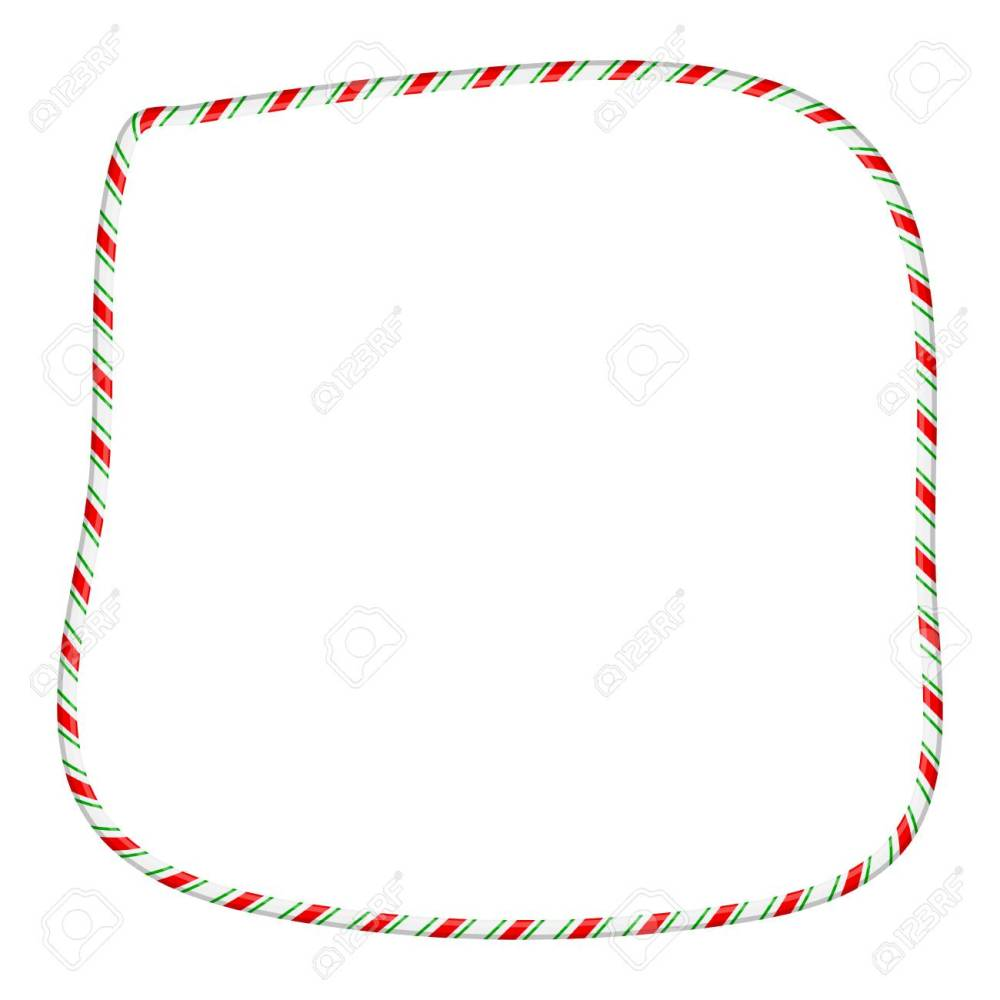medium resolution of candy cane frame border for christmas design isolated on white background stock vector 91605926