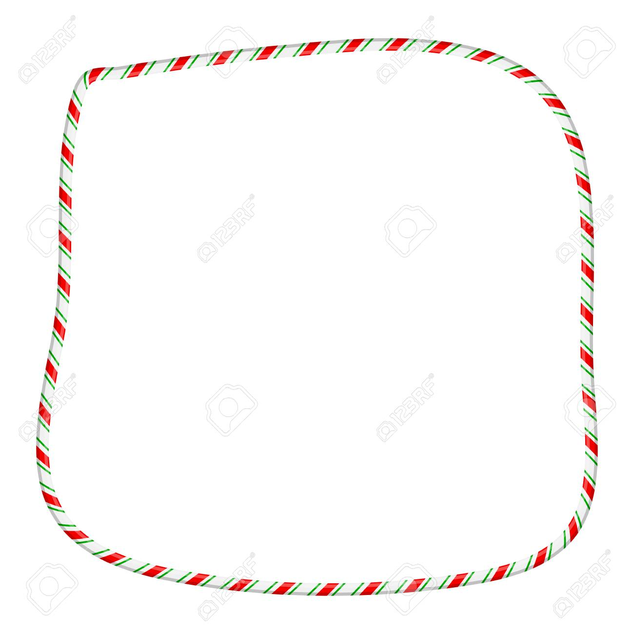 hight resolution of candy cane frame border for christmas design isolated on white background stock vector 91605926