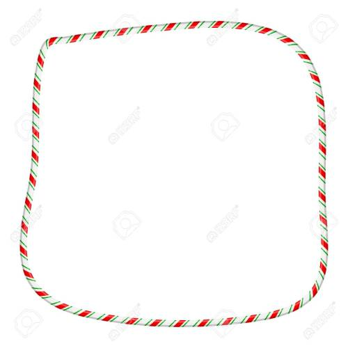 small resolution of candy cane frame border for christmas design isolated on white background stock vector 91605926