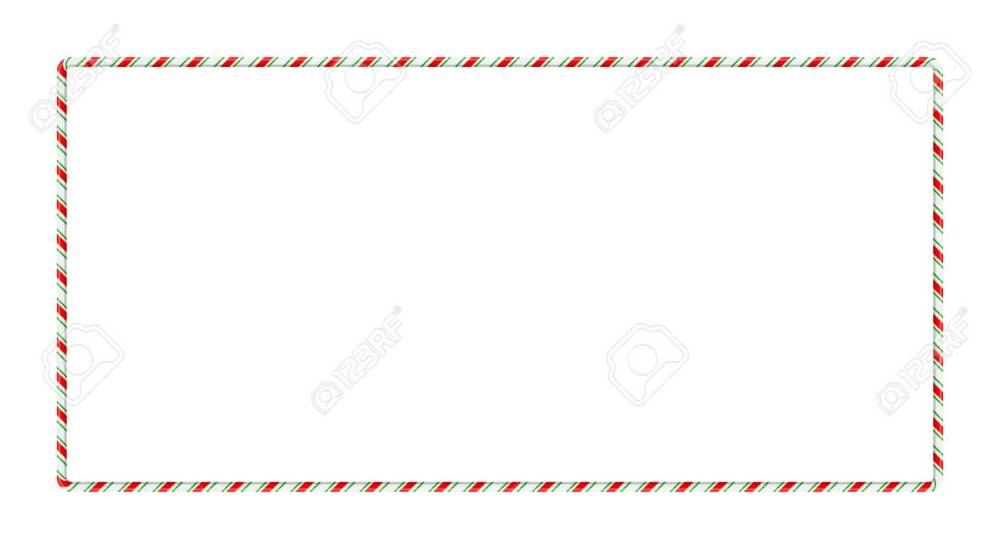 medium resolution of candy cane frame border for christmas design isolated on white background stock vector 91607012