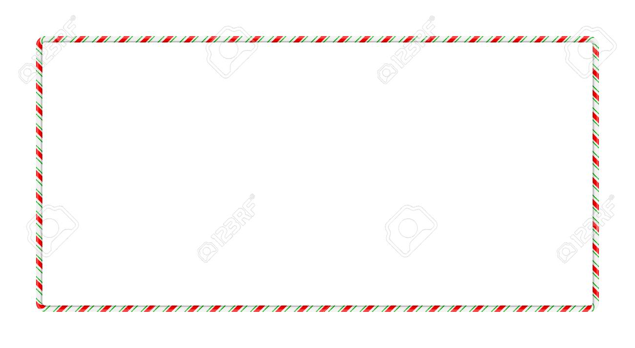 hight resolution of candy cane frame border for christmas design isolated on white background stock vector 91607012