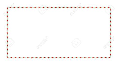 small resolution of candy cane frame border for christmas design isolated on white background stock vector 91607012