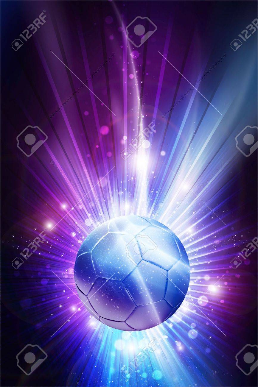 Cool Soccer Pics : soccer, Soccer, Stars, Glowing, Theme, Background.., Stock, Photo,, Picture, Royalty, Image., Image, 12788259.