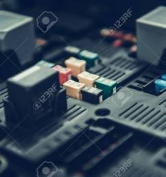 automotive fuses container car fuse box closeup photo automotive electrical systems foto de [ 1300 x 866 Pixel ]