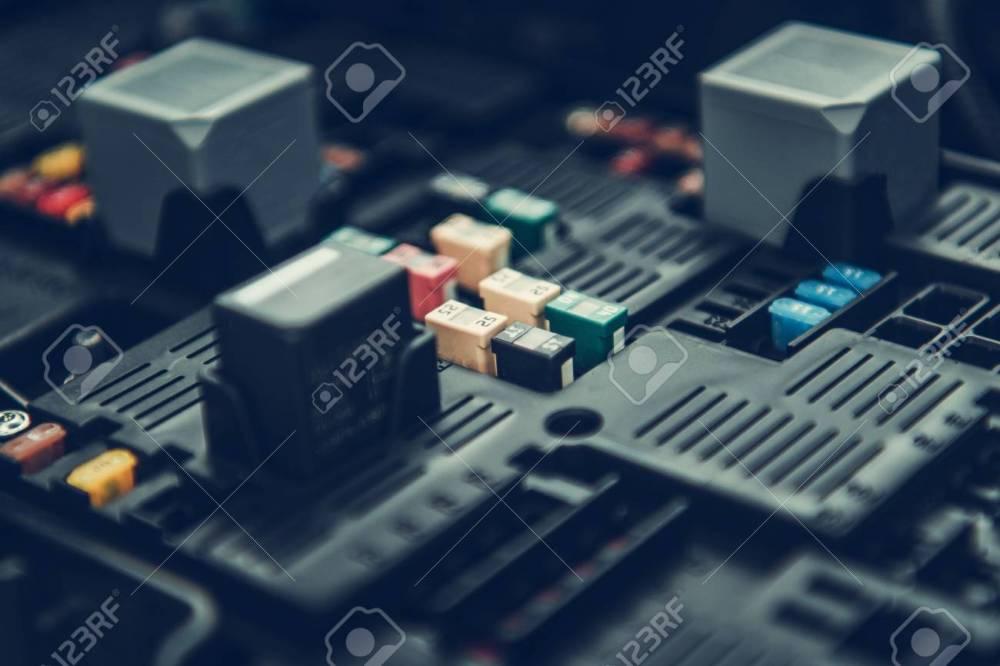 medium resolution of automotive fuses container car fuse box closeup photo automotive electrical systems foto de
