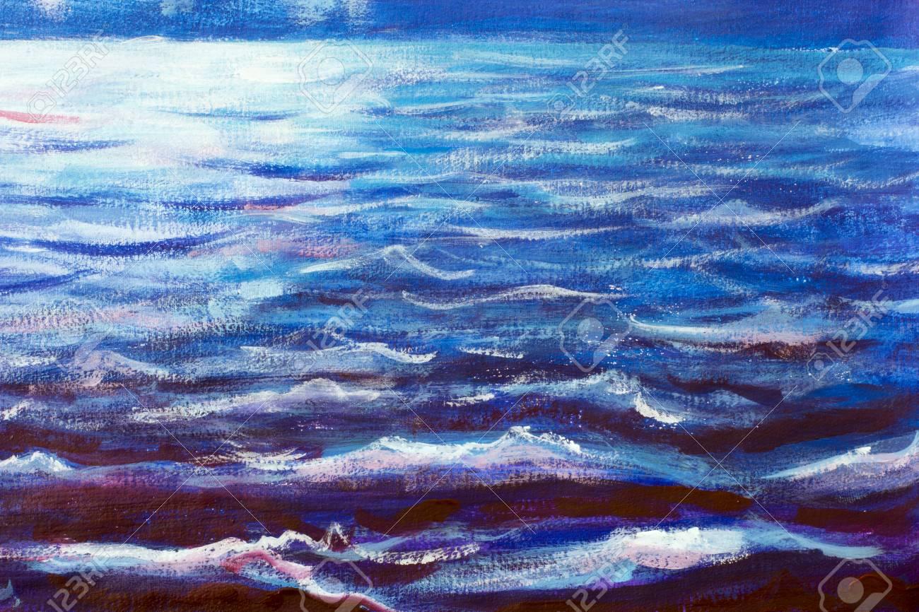 blue sea waves at