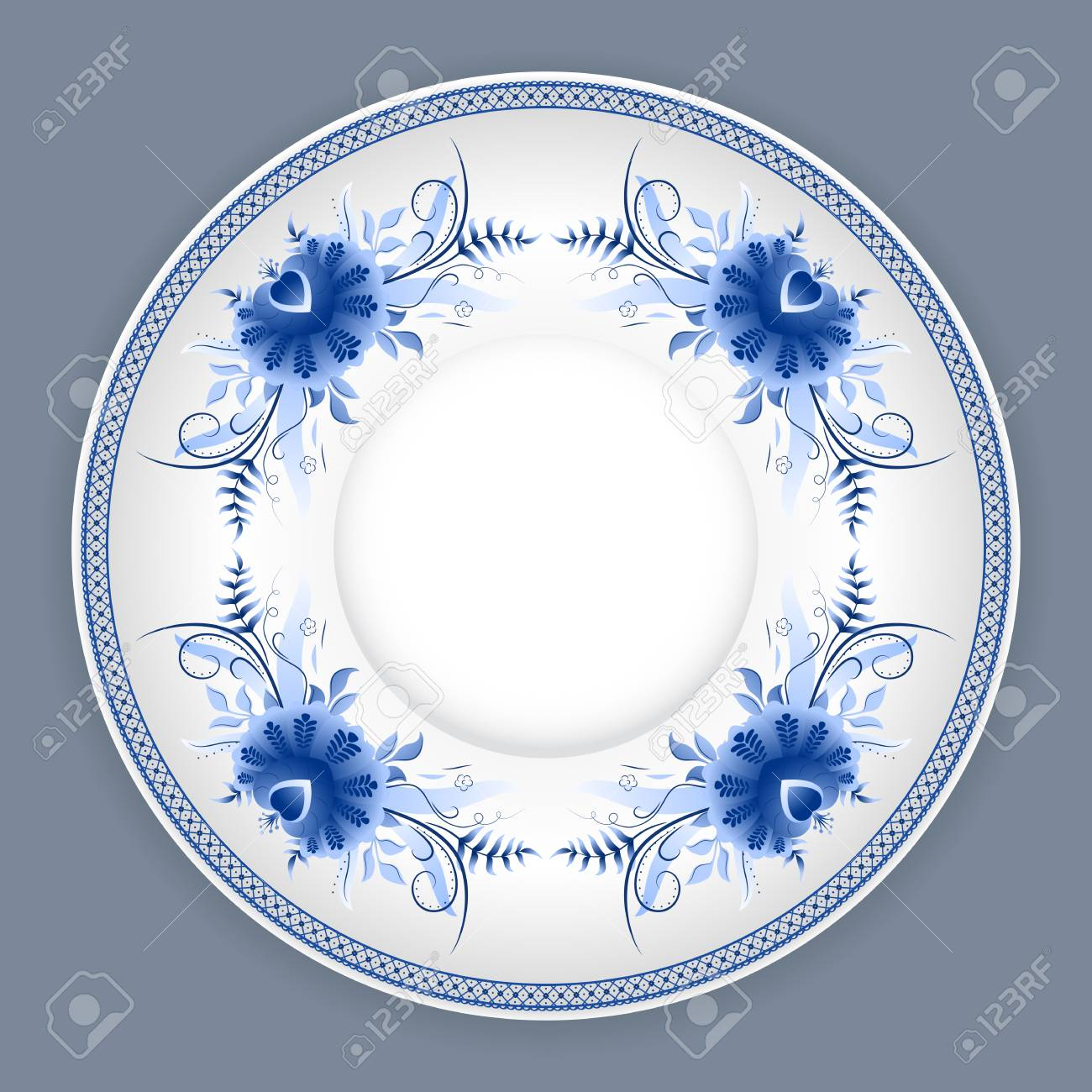 ceramic plate with classic