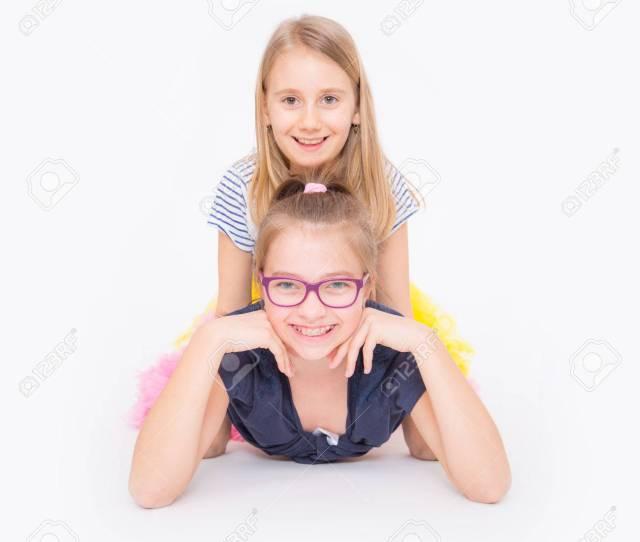 Playful Young Naughty Sisters Having Fun Stock Photo 75997911
