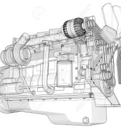 big engine diagram wiring diagram today big block engine diagram a big diesel engine with the [ 1300 x 1049 Pixel ]