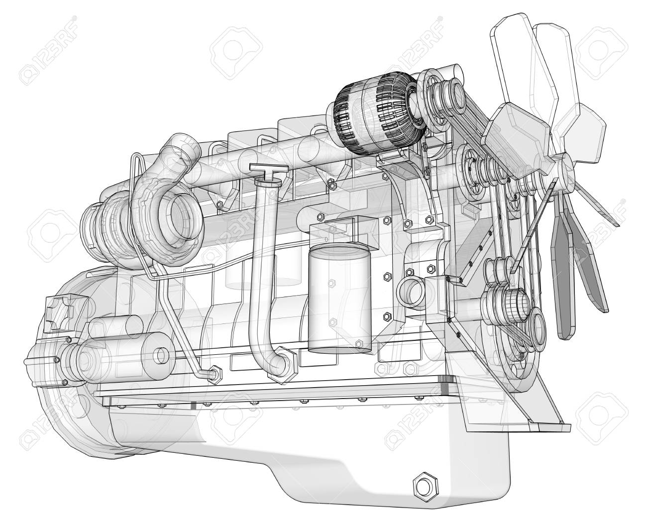 hight resolution of big engine diagram wiring diagram today big block engine diagram a big diesel engine with the