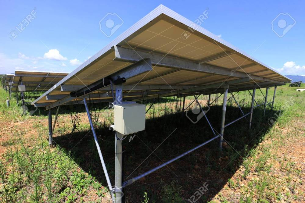 medium resolution of fuse box of solar farm installed under pv panels stock photo 101475973