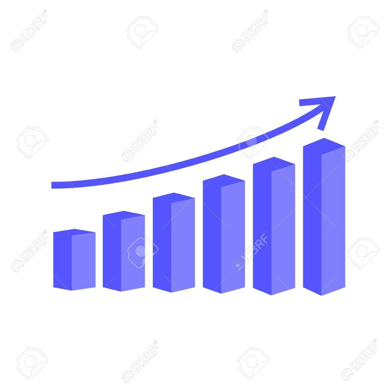 vector 3d bar graph