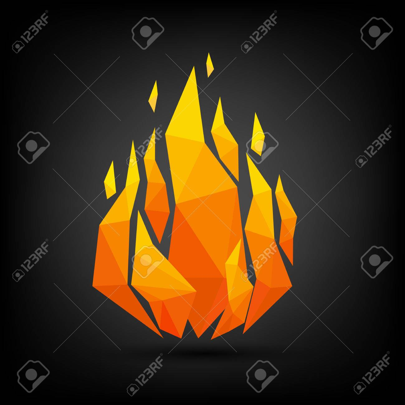 abstract flame triangle geometric