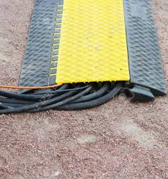 floor protection yellow black cable many channels with electrical video belden snake cables lies on the [ 1300 x 866 Pixel ]