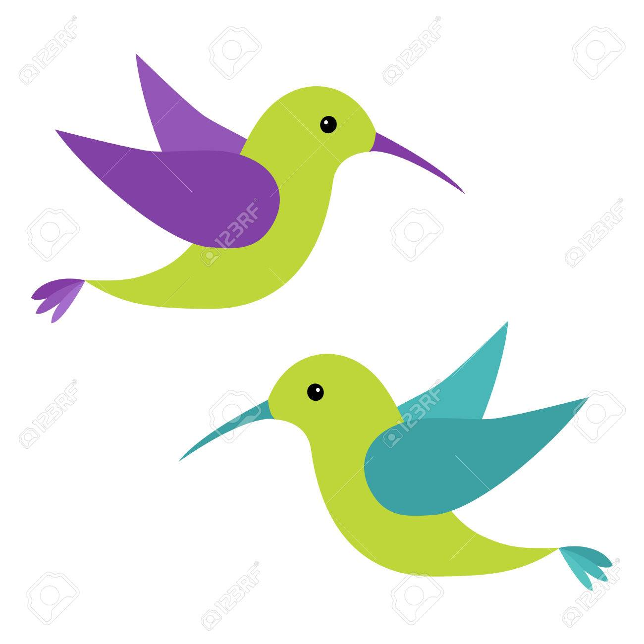 colibri flying bird icon