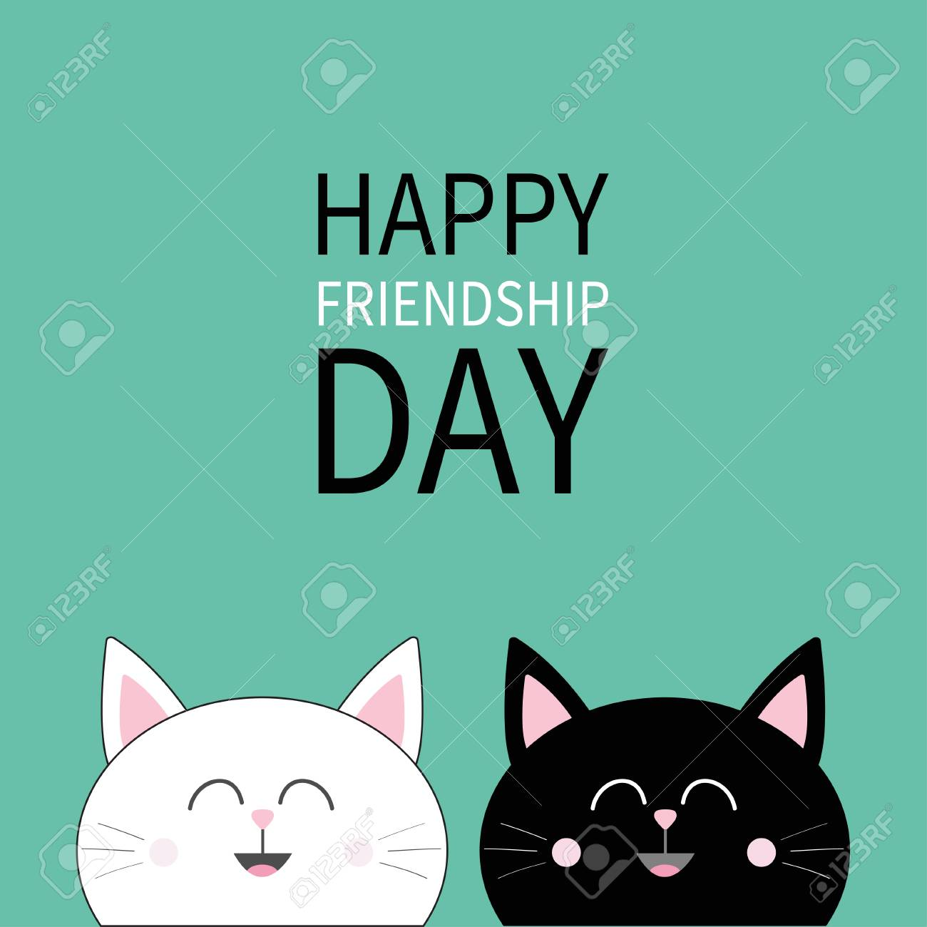 happy friendship day black
