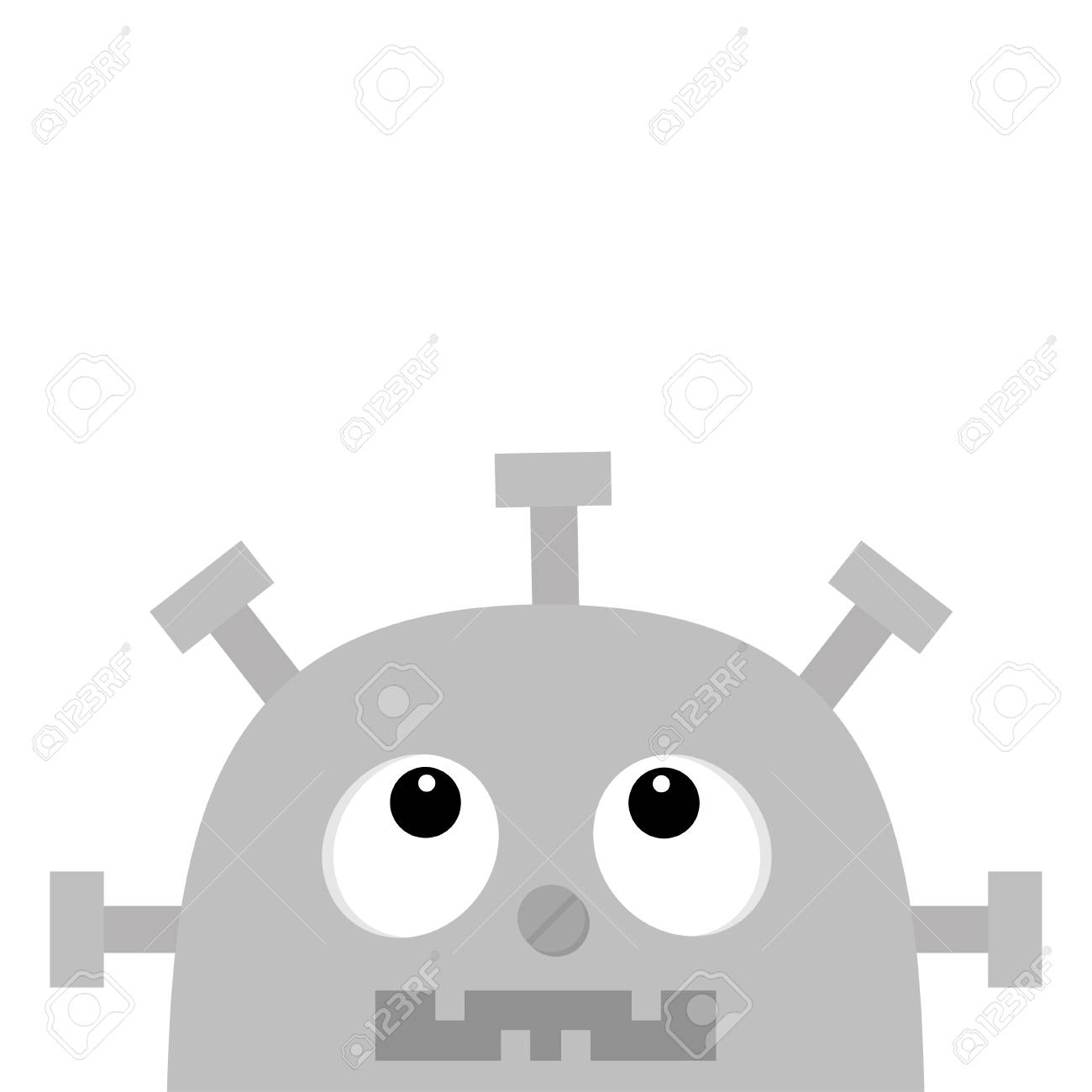 hight resolution of robot head face looking up screw nose clock heart diagram open mouth