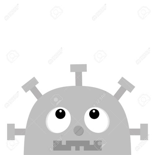 small resolution of robot head face looking up screw nose clock heart diagram open mouth