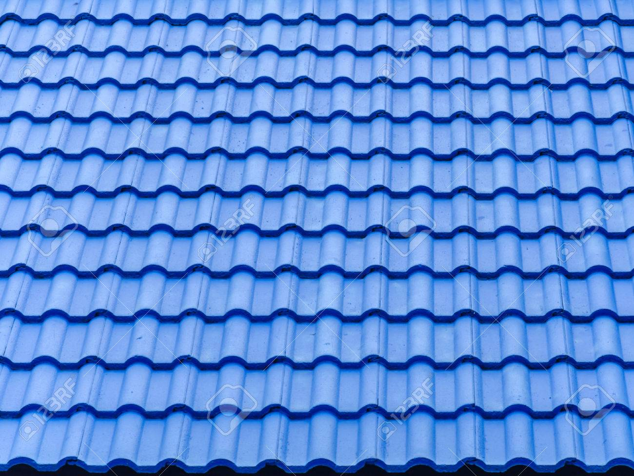 ceramic tile roof with blue color