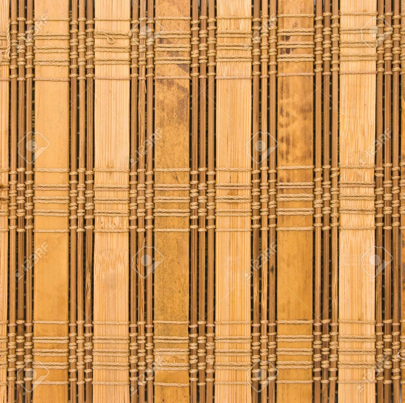 pres de tissu du rideau en bambou motif