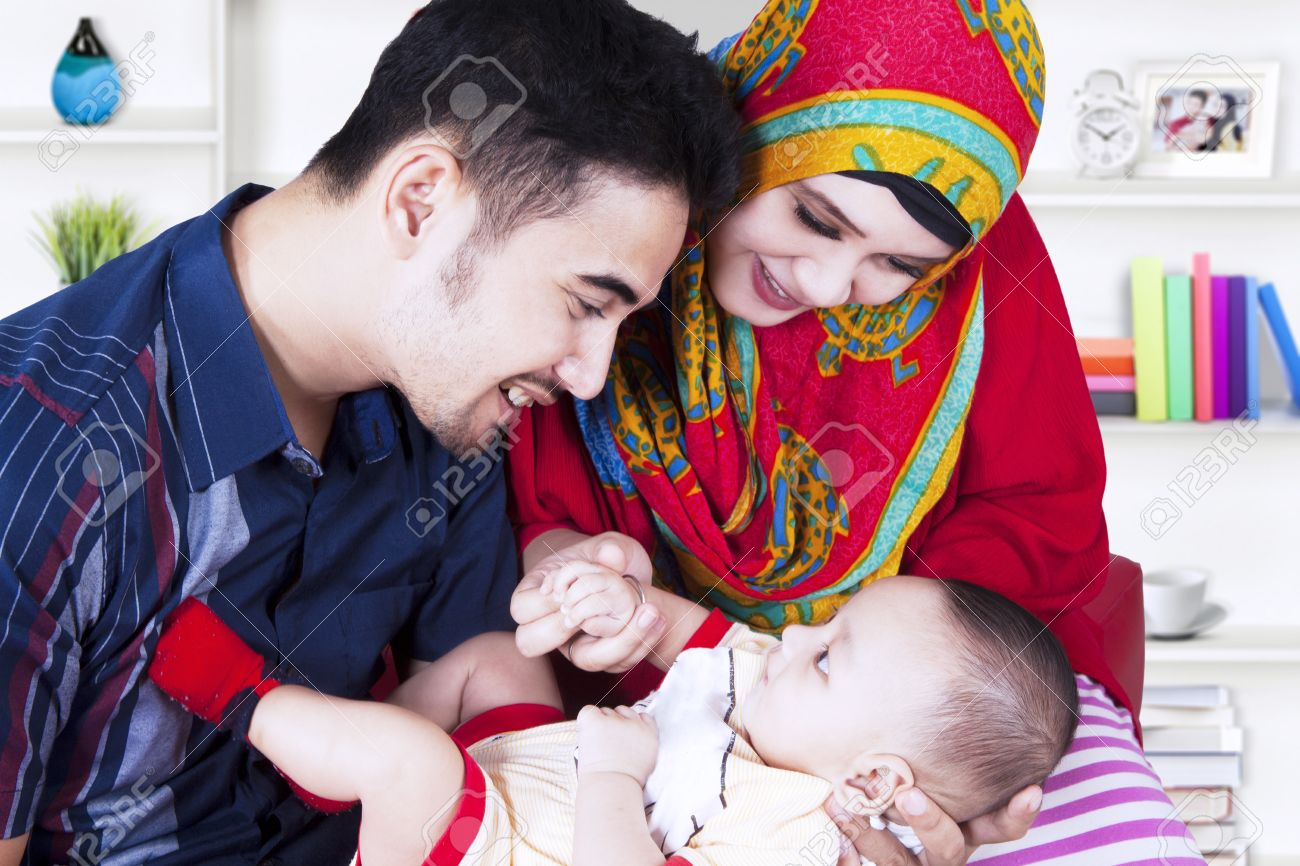 muslim parents and cute