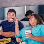 Portrait Of Fat Asian Couple Eating Ice Cream Joyfully Romantically Stock Photo Picture And Royalty Free Image Image 137930979