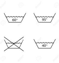 foto de archivo warning mark care for washing and boil textile tissue garment set symbol sign for label vector illustration [ 1300 x 1300 Pixel ]