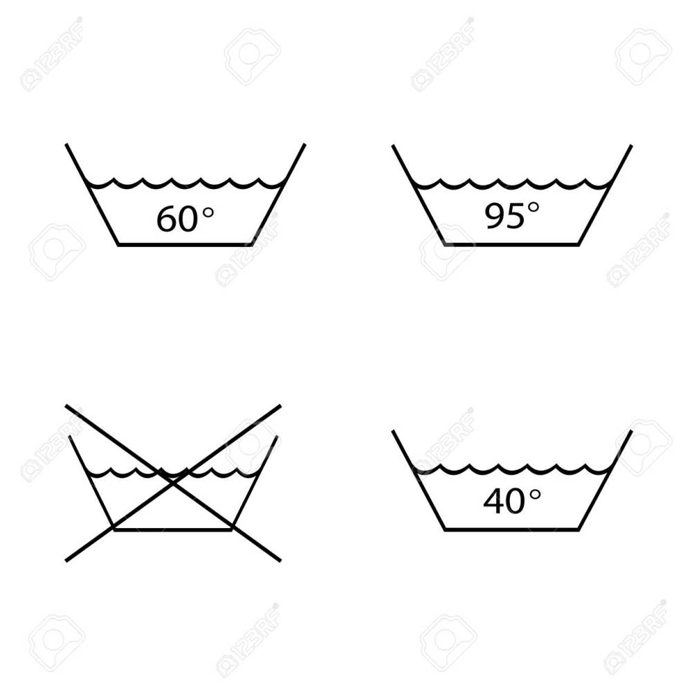 medium resolution of foto de archivo warning mark care for washing and boil textile tissue garment set symbol sign for label vector illustration