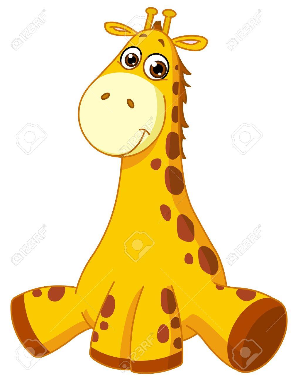 hight resolution of baby giraffe illustration
