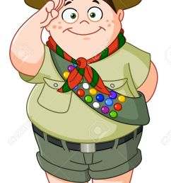 happy boy scout saluting stock vector 19017754 [ 819 x 1300 Pixel ]