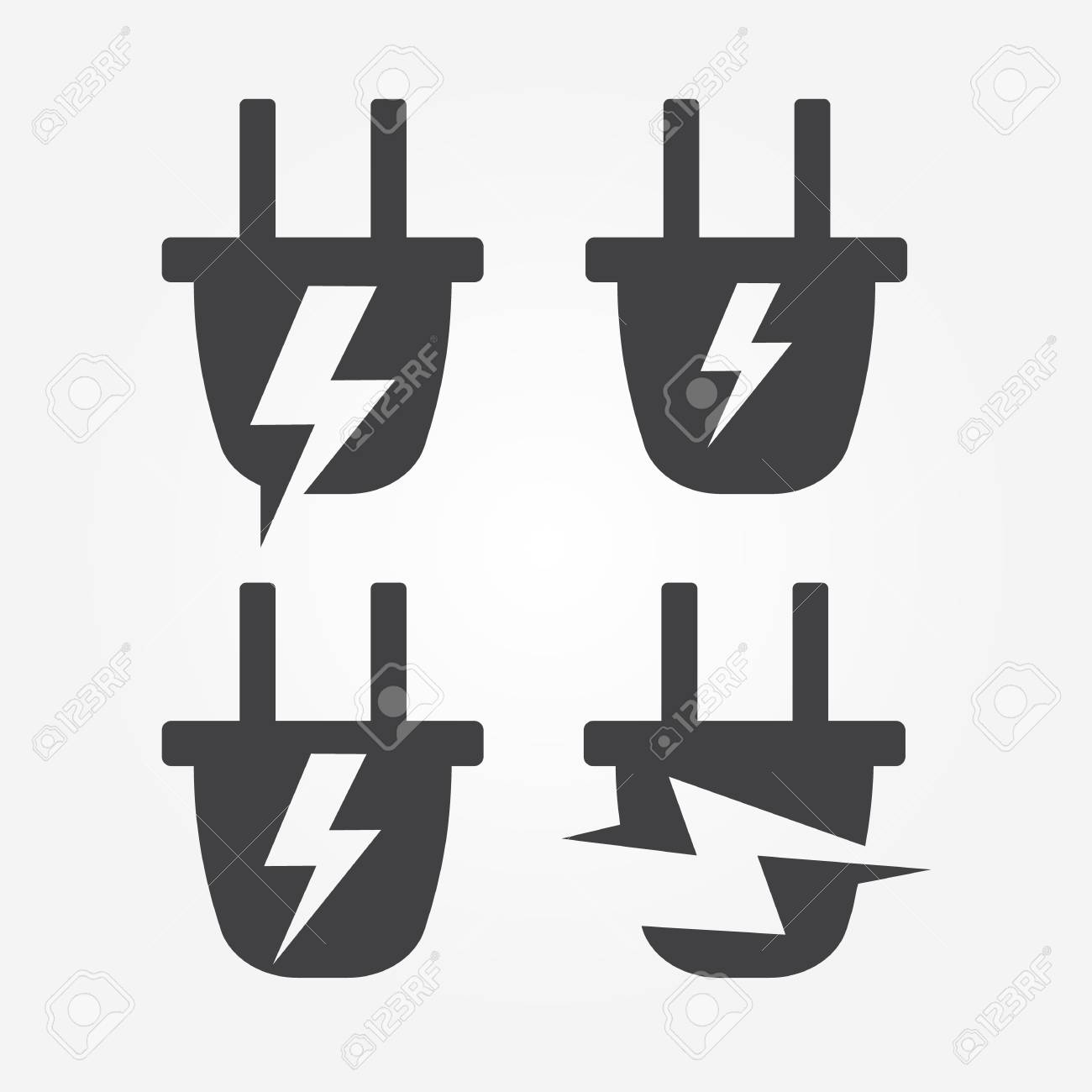 hight resolution of plug with lightning logo element electrical wiring symbol royalty electric wiring logos