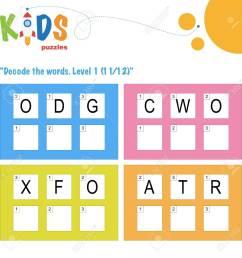 Decode The 3-letter Words. Worksheet Practice For Preschool [ 1300 x 1299 Pixel ]