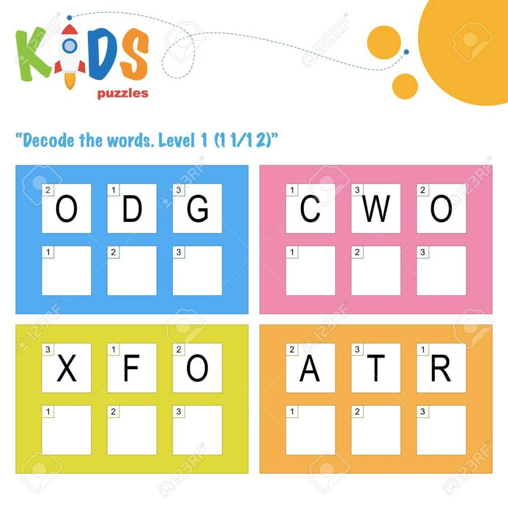 medium resolution of Decode The 3-letter Words. Worksheet Practice For Preschool