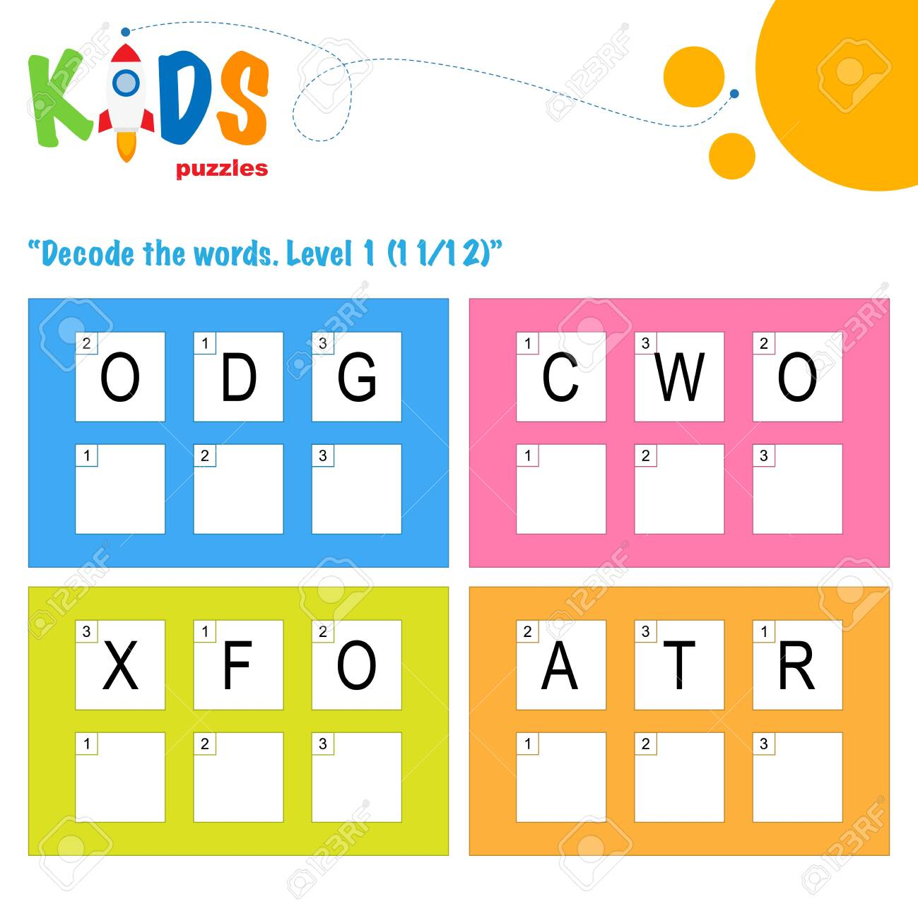 hight resolution of Decode The 3-letter Words. Worksheet Practice For Preschool