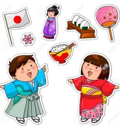 set of japanese children and symbols stock vector 16511402 [ 1300 x 1300 Pixel ]