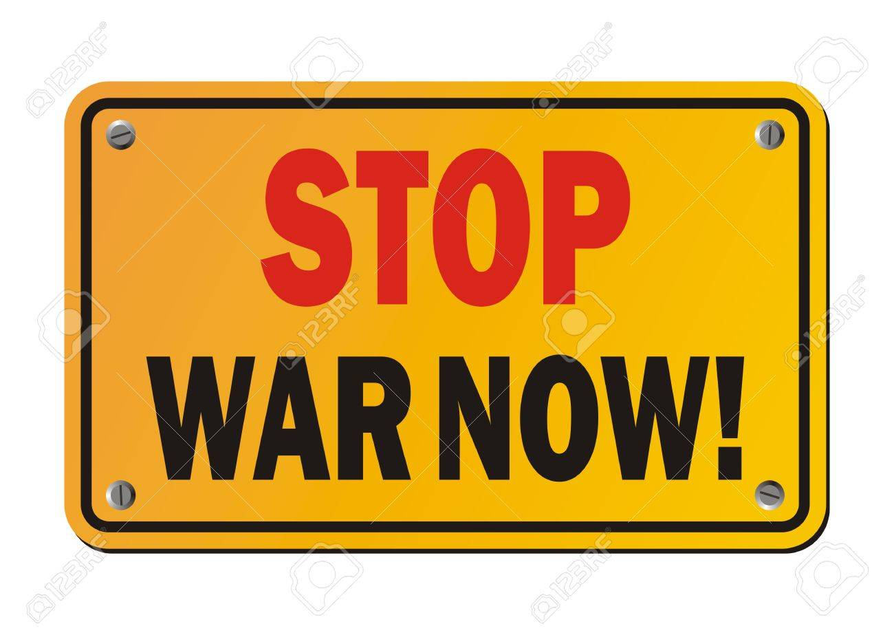 Image result for Stop war now