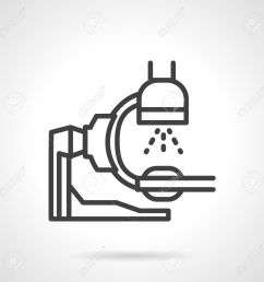 flat simple line style x ray machine icon equipment for x ray exam [ 1300 x 1300 Pixel ]