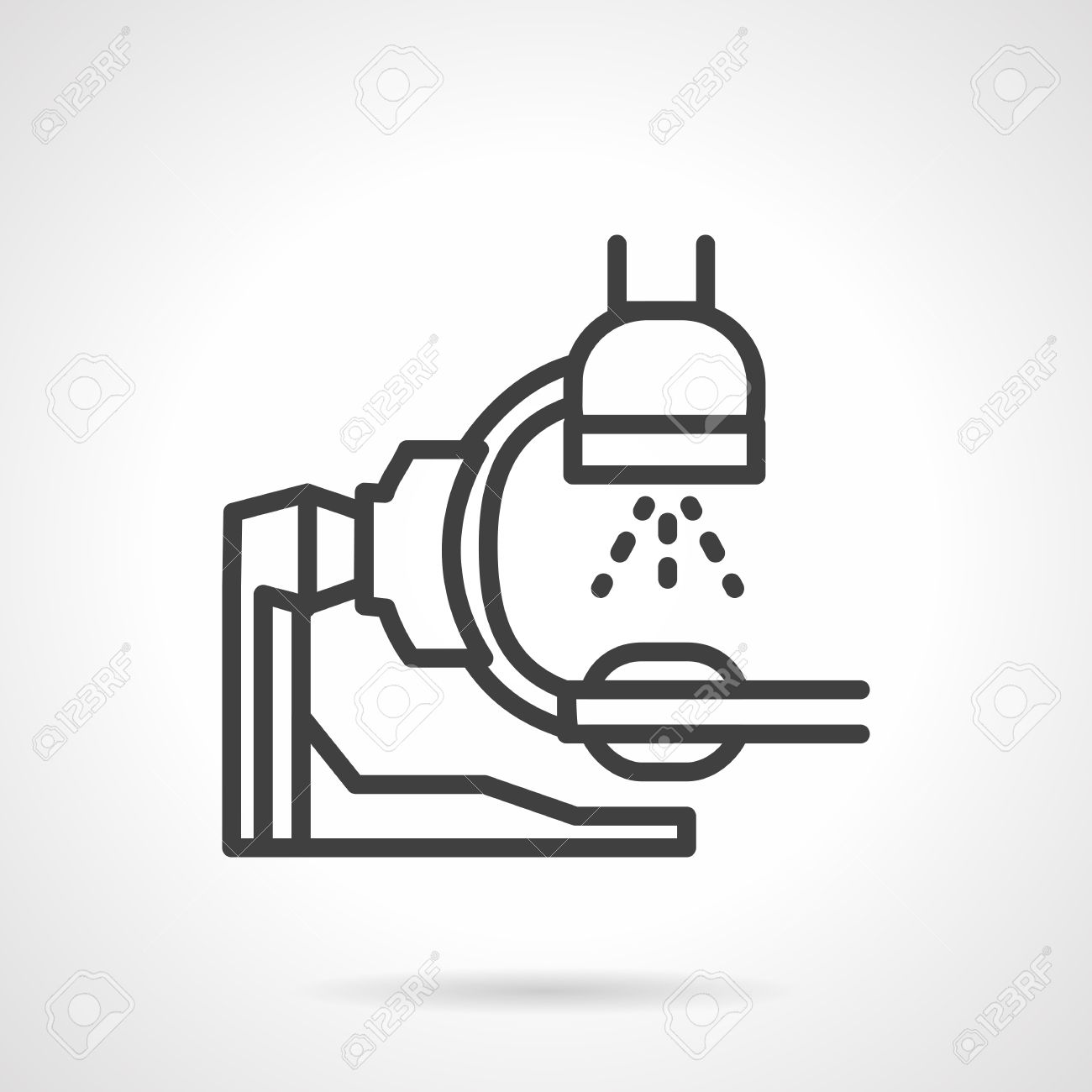 hight resolution of flat simple line style x ray machine icon equipment for x ray exam