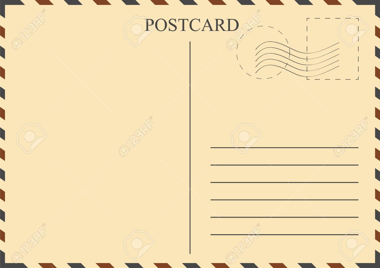 postcard template vintage postcard