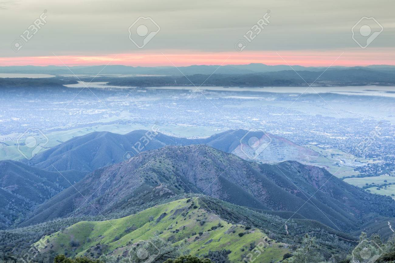 Mount diablo (mt diablo), clayton, contra costa co., california, usa : Sunset From Mt Diablo Summit Looking West Mount Diablo State Park Contra Costa County California Usa Stock Photo Picture And Royalty Free Image Image 76088307